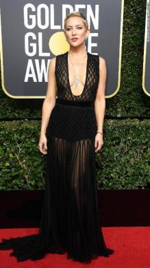 BEVERLY HILLS, CA - JANUARY 07: Actor Kate Hudson attends The 75th Annual Golden Globe Awards at The Beverly Hilton Hotel on January 7, 2018 in Beverly Hills, California. (Photo by Frazer Harrison/Getty Images)