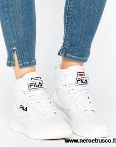 PrimaveraEstate-2018-Fila-Fila-Fx100-Scarpe-Da-Ginnastica-Alte-Bianche-Bianco-Donna-Scarpe-Taglia-36-EU-45-36-44-201420152016
